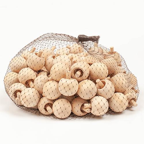 350버섯모양나무팽이 100개세트 거꾸로팽이
