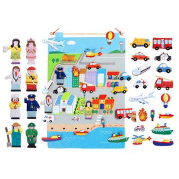 매직캐슬 차트 우리동네교통수단(30031)(융판놀이 직업 포함)
