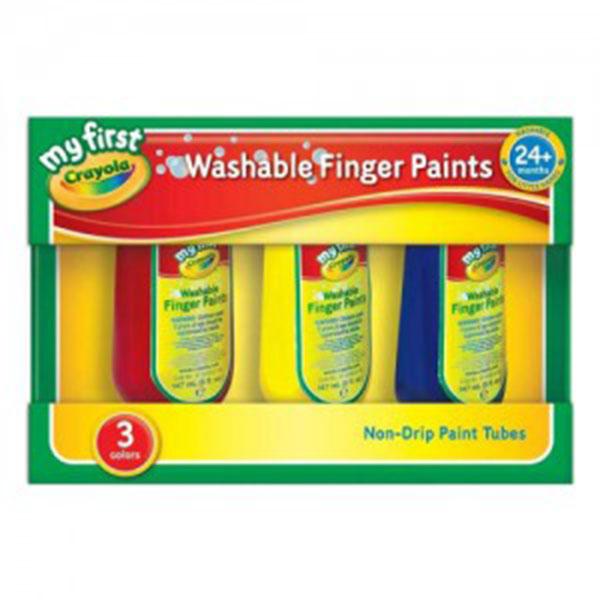 크레욜라 핑거페인트 150ml*3색(빨강,파랑,노랑)(GY818108)