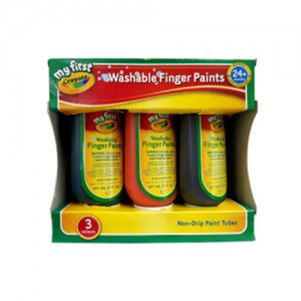 크레욜라 핑거페인트 150ml*3색(주황,녹색,보라)(GY811430)