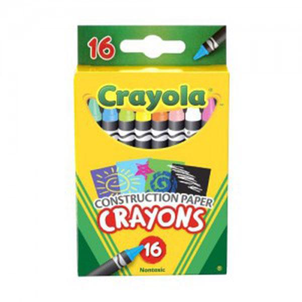 크레욜라 16색 색지전용크레용 GY525817