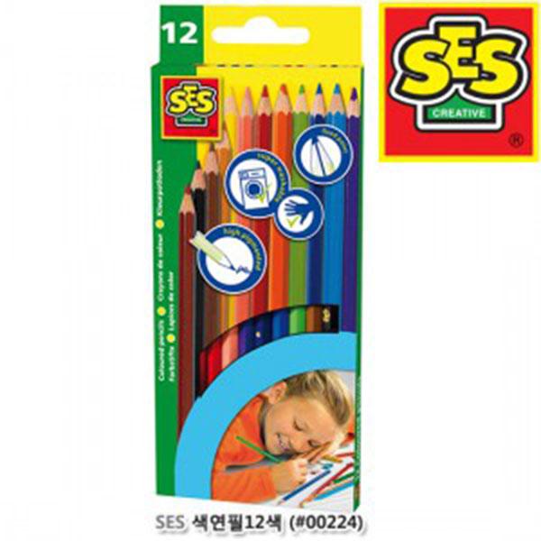 SES 색연필12색 (#00224)