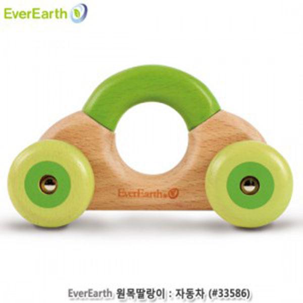 에버어쓰(EverEarth) 원목딸랑이:자동차 (#33586)