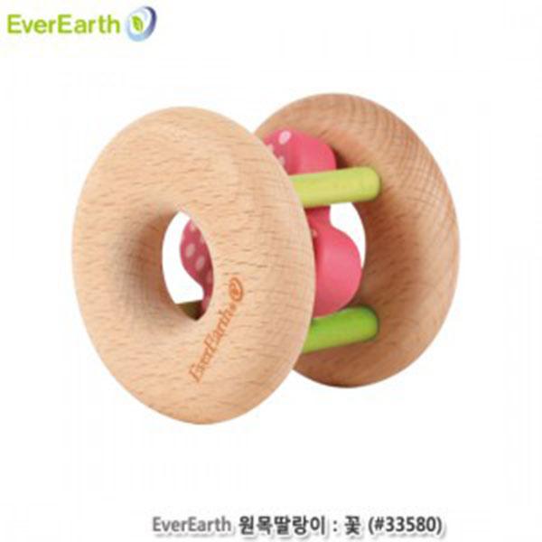 에버어쓰(EverEarth) 원목딸랑이:꽃 (#33580)
