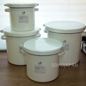 노다호로 법랑 쌀통-21cm (7L)