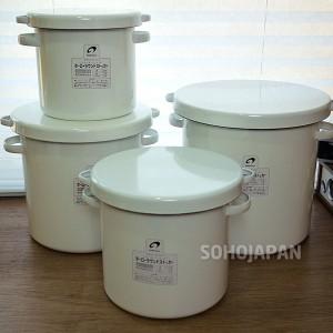 노다호로 법랑 쌀통-27cm (15L)