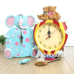 코끼리와 곰 벽시계