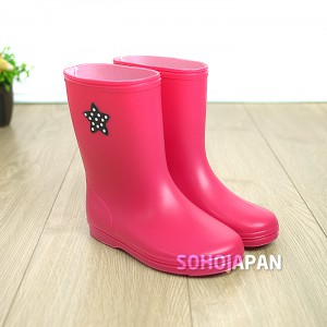 컬러풀 아동 장화(핑크)