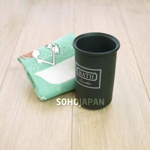 피에스 블랙 도기 욕실용품(다용도 컵)
