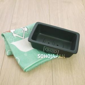 피에스 블랙 도기 욕실용품(비누받침)