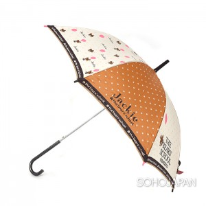 재키 장우산(브라운 도트)