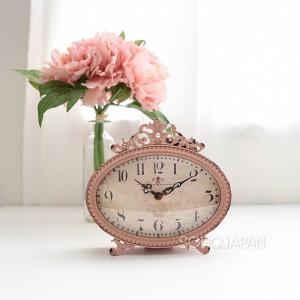 빈티지 핑크 탁상 시계