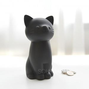 고양이 저금통(블랙)