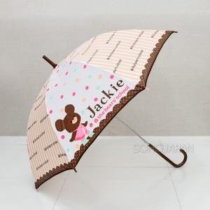 재키 도트 장우산(브라운레이스)