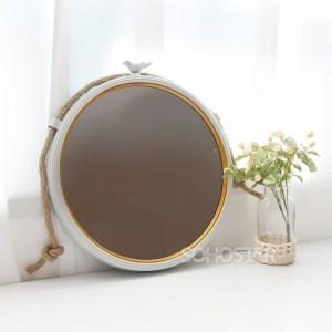 버드 원형 거울(행잉)