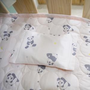 베이비스토리 좁쌀베개 팬더곰 코랄핑크