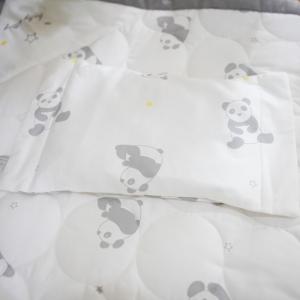 베이비스토리 좁쌀베개 팬더곰 화이트