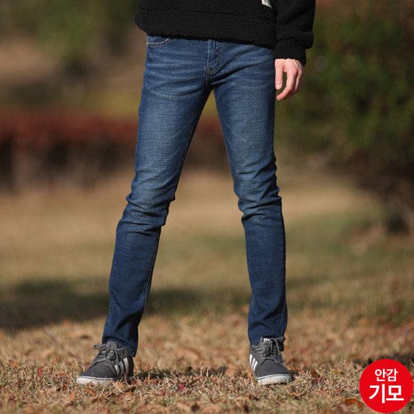 AMM934 남자캣워싱따뜻한겨울기모청바지