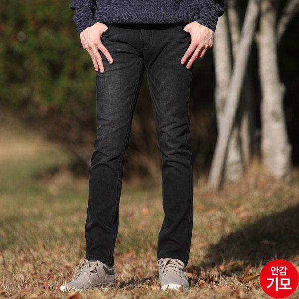 AMM932 남자블랙캣워싱따뜻한기모청바지
