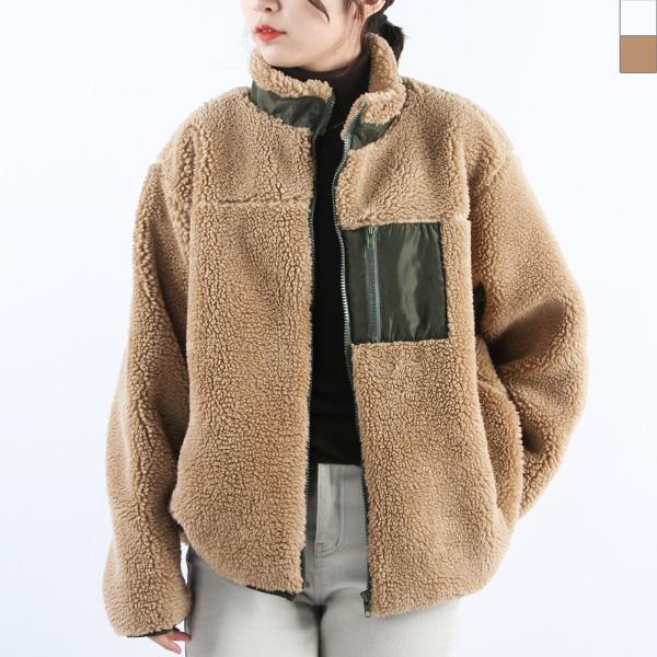 KAA 3022 여자양털후리스반코트자켓
