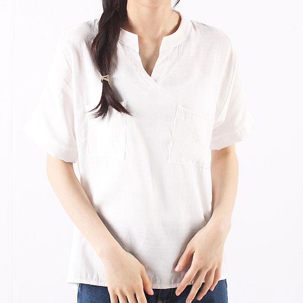 KPP 0420 여자린넨상의반팔셔츠