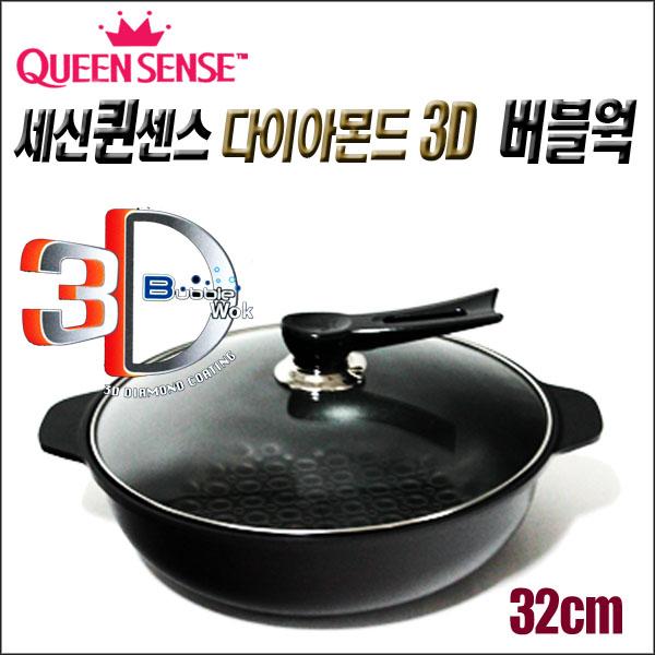 퀸센스 다이아몬드 3D 입체코팅 버블점보웍*32cm