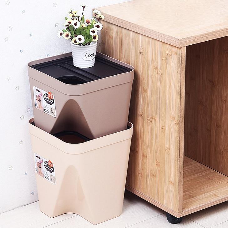 사각 소형 휴지통 분리수거함 쓰레기통