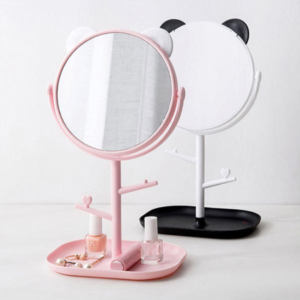 곰돌이 스탠드 거울 탁상거울
