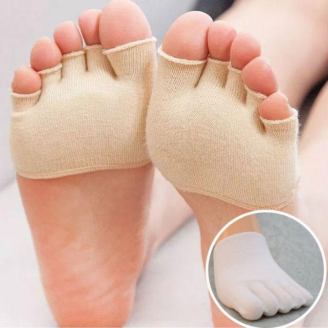 국산 남녀공용 오픈 발가락 반양말 토우캡