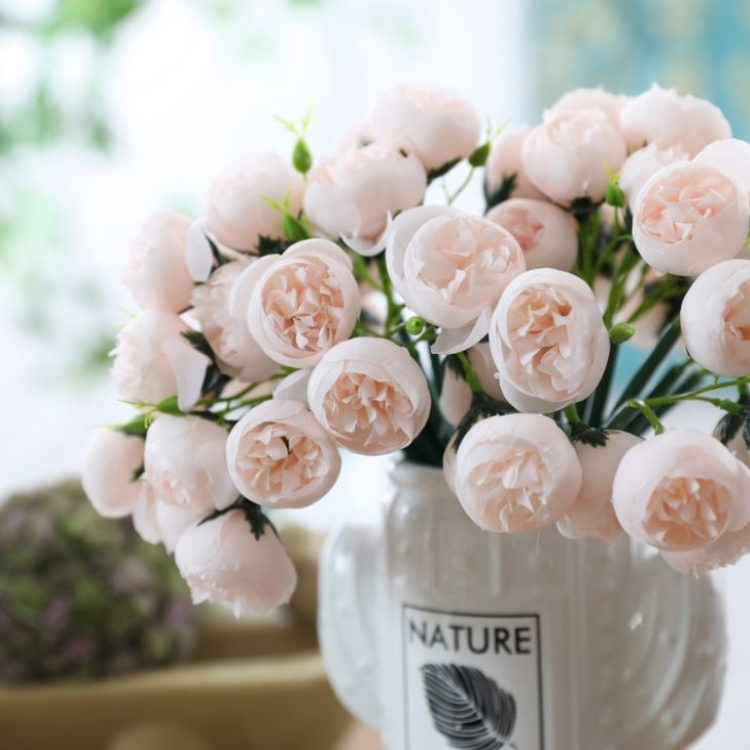 온나 미니 장미 꽃다발 조화