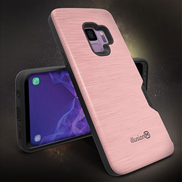 LG Q51 에디터 일루션 메탈 카드 범퍼 케이스 LM-Q510N