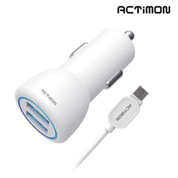 엑티몬 5핀 USB2포트 차량용 충전기 5V 2.4A MON-C2-242-5P