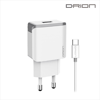 드리온 QC3.0 C타입 USB1포트 급속 가정용 충전기 9V 2A