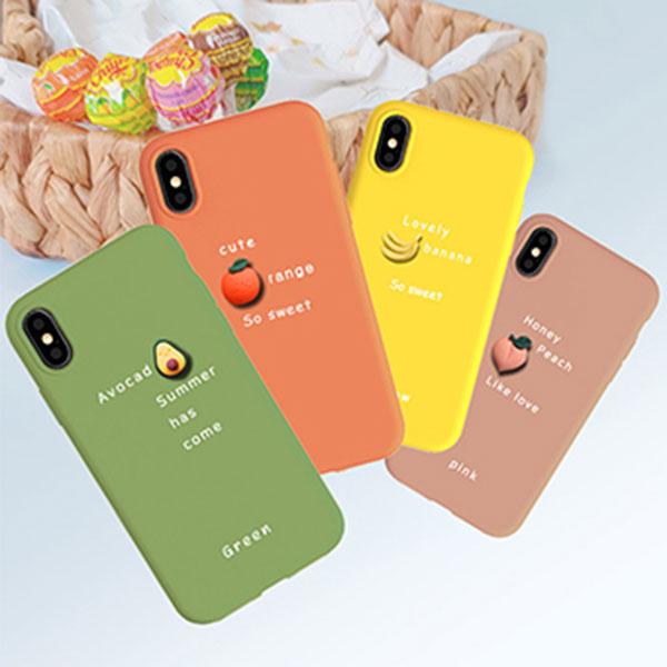 아이폰 12 프로맥스 과일 레터링 젤리케이스