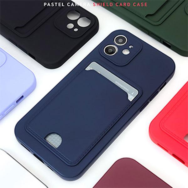 아이폰 12 파스텔 카드 젤리케이스 카메라 쉴드타입