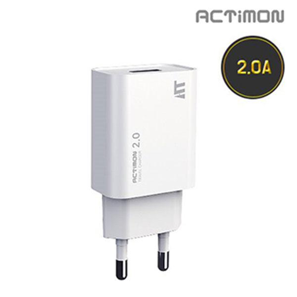 엑티몬 USB1구 가정용 충전기 2.0A 케이블미포함 / MON-TC3-211