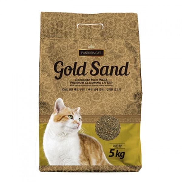판도라 골드샌드 벤토나이트 모래 레몬향 5kg