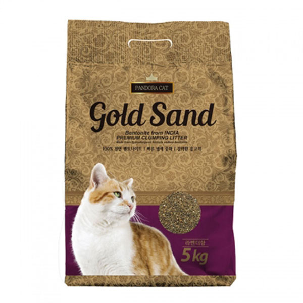 판도라 골드샌드 벤토나이트 모래 라벤더향 5kg