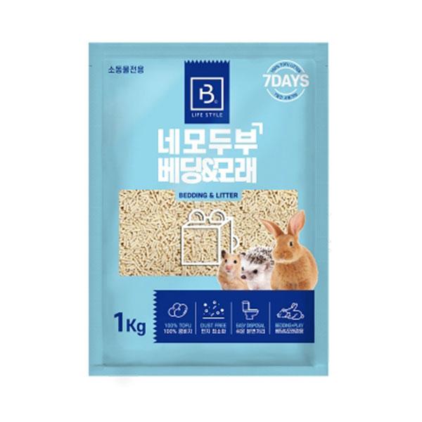 브리더랩 소동물전용 네모두부 베딩&모래 1kg