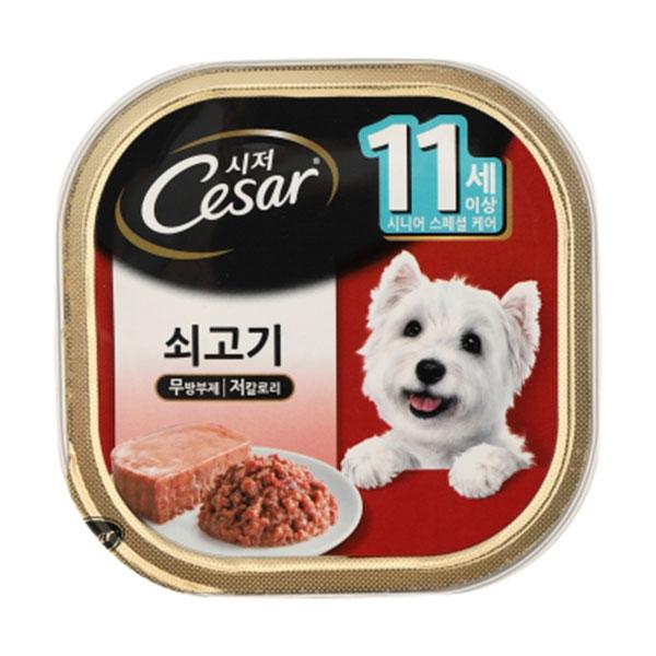 시저 11세이상 쇠고기 캔 100g