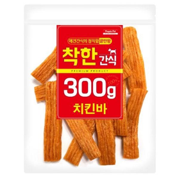 착한간식 치킨바 300g
