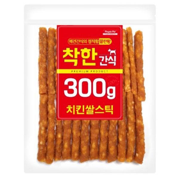착한간식 치킨쌀스틱 300g