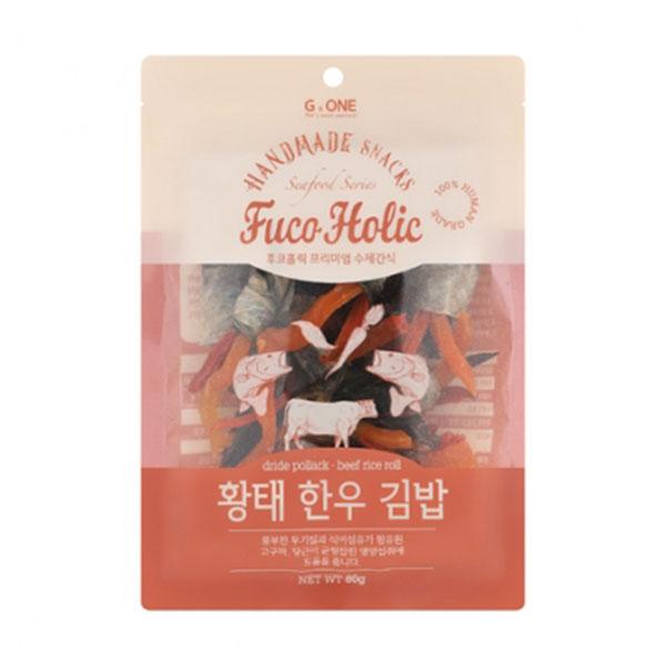 후코홀릭 프리미엄 수제간식 황태 한우 김밥 80g