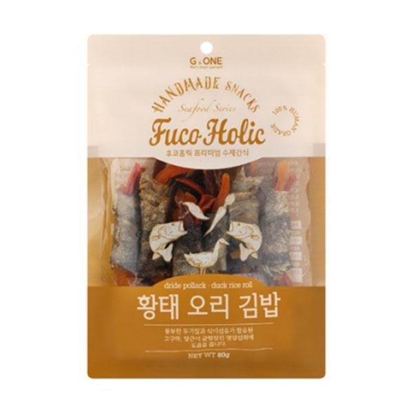 후코홀릭 프리미엄 수제간식 황태 오리 김밥 80g