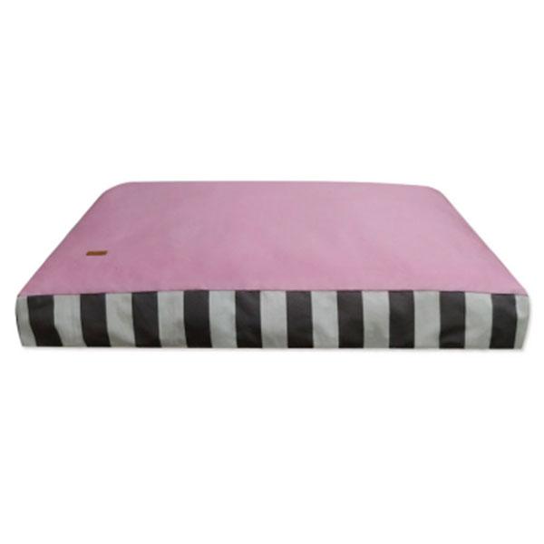 페라가토 스트라이프 사각베드 초대형 핑크