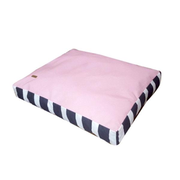 페라가토 스트라이프 사각베드 방수 핑크