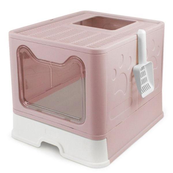 펫라이프 접이식 화장실 핑크