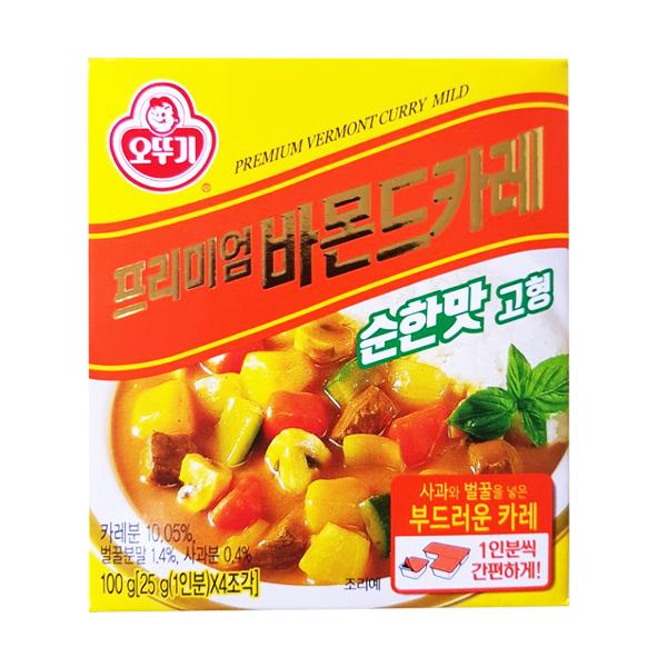오뚜기 프리미엄 바몬드 카레 순한맛 고형 100g 5인분