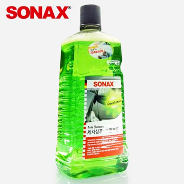 소낙스SONAX 세차샴푸 그린레몬 2L