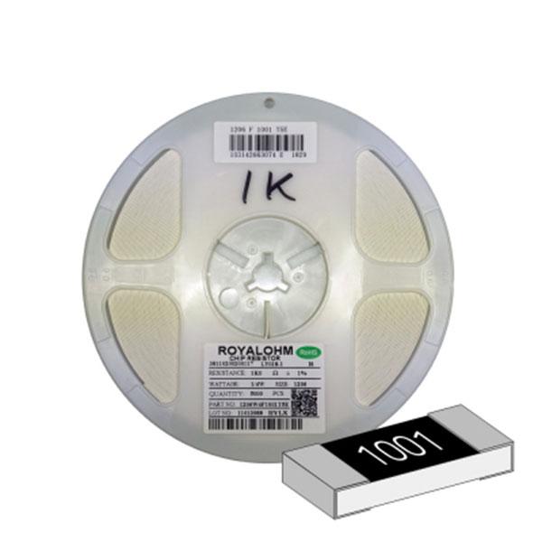 SMD 칩저항 1206(3216) 1/4W 1%(F급) 1K옴 1릴(5,000개)